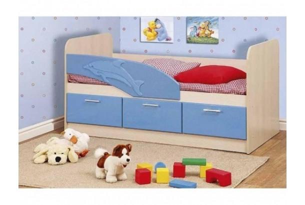 Кровать детская Дельфин 06.222 1600 Голубой металлик