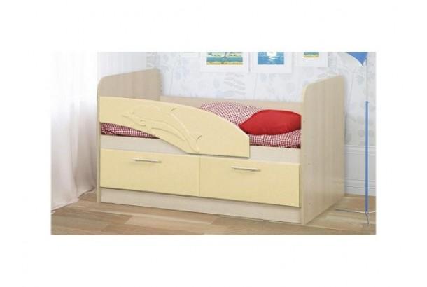 Кровать детская Дельфин 06.01 1400 Кремовый металлик