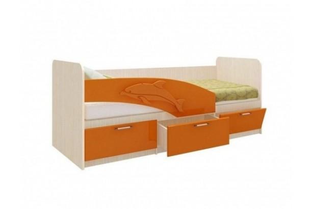 Кровать детская Дельфин 06.222 1600 Оранжевый металлик
