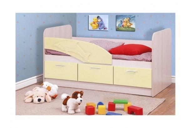 Кровать детская Дельфин 06.222 1600 Кремовый металлик