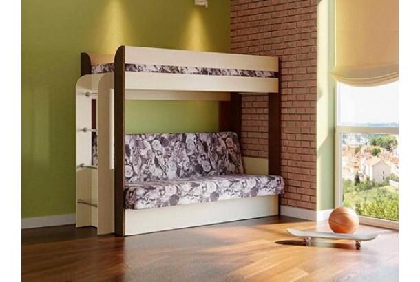Кровать двухъярусная Немо Венге/Дуб/Лас Вегас с матрасом