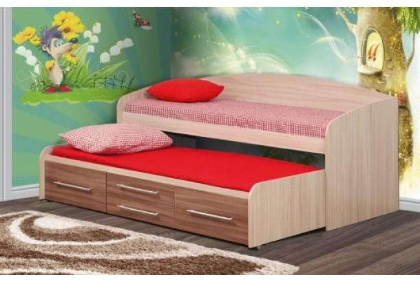 Кровать двухъярусная Адель-5 Ясень светлый/темный