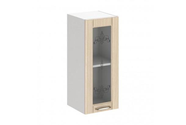Кантри 3В2 Шкаф настенный 1-дверный со стеклом 300 Светлое Дерево