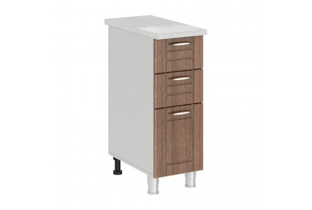 Кантри 3Р3 Шкаф-стол с 3 ящиками 300 Темное Дерево