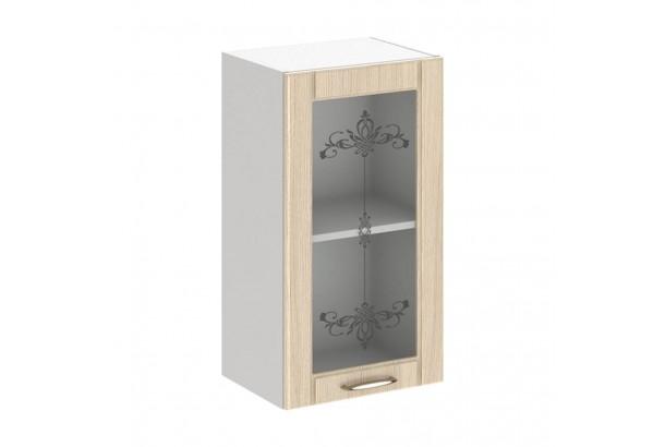 Кантри 4В2 Шкаф настенный 1-дверный со стеклом 400 Светлое Дерево