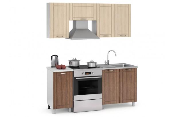 Кантри 180-01 Набор мебели для кухни Темное Дерево, Светлое Дерево