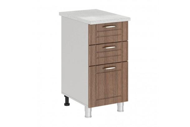 Кантри 4Р3 Шкаф-стол с 3 ящиками 400 Темное Дерево
