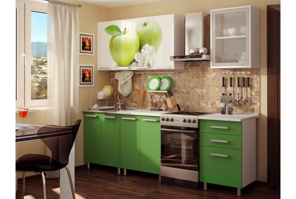 Кухонный гарнитур 1,8м с фотопечатью ЛДСП Яблоко (Фруттис)