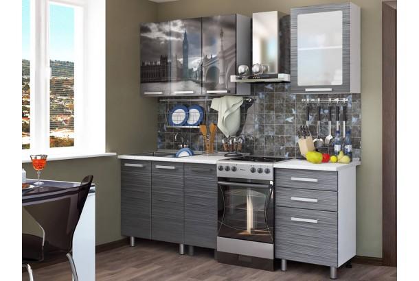 Кухонный гарнитур 1,6м с фотопечатью МДФ Лондон