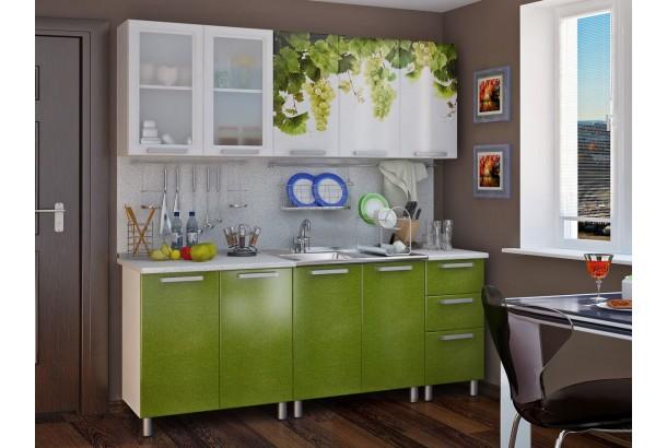 Люкс Лоза Кухонный гарнитур 2,0м с фотопечатью МДФ Лоза
