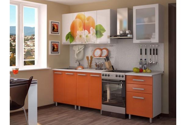 Кухонный гарнитур 1,8м с фотопечатью МДФ Персик