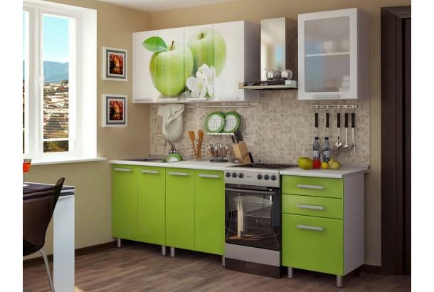 Кухонный гарнитур 1,8м с фотопечатью МДФ Яблоко