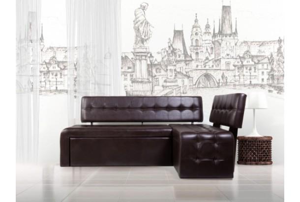 Кухонный диван Прага умбер