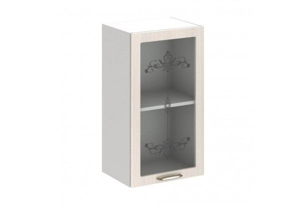 Прованс 4В2 Шкаф настенный 1-дверный со стеклом 400 Дуб Прованс