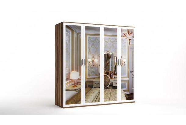 Шкаф распашной 4-х с зеркалами Лорд-11 NEW