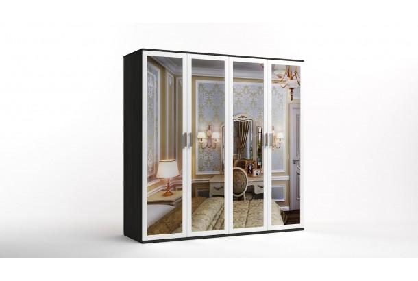 Шкаф распашной 4-х с зеркалами Лорд-14 NEW