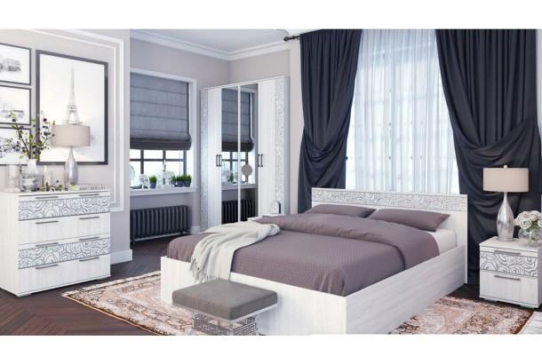 Лагуна №2 Набор мебели для спальни Ясень Белый