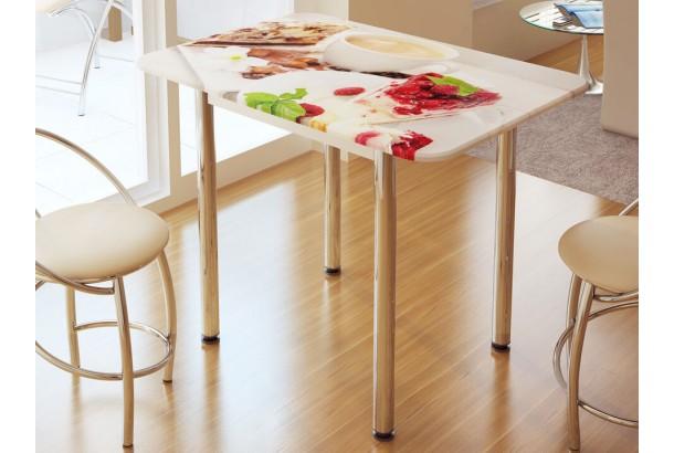 Стол обеденный с фотопечатью Десерт