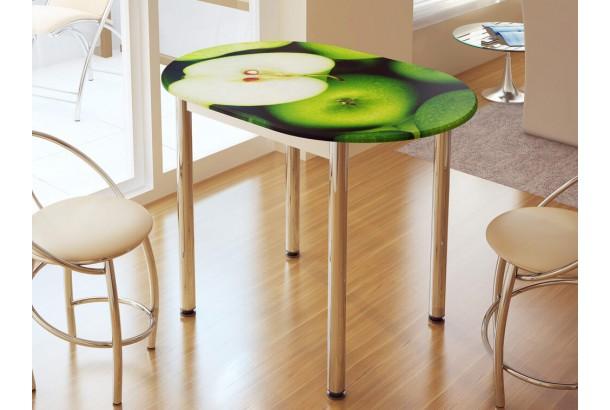 Стол обеденный с фотопечатью Зеленое Яблоко