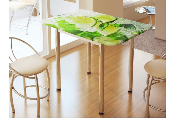 Стол обеденный с фотопечатью Лайм
